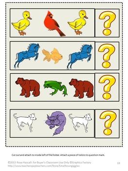 Brown Bear Brown Bear File Folder Games