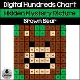 Brown Bear Hundreds Chart Hidden Picture Activity for Winter Math Bear Snores