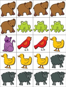 Brown Bear Count, Tally, Graph and Add --- Brown Bear I Spy ***FREEBIE***