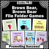 Brown Bear Brown Bear Activities, Math and Literacy Centers File Folder Games