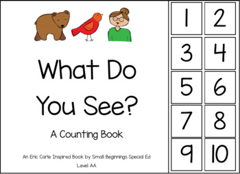 Brown Bear Inspired Counting Book and Task Boxes **GROWING BUNDLE**