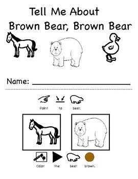 Brown Bear: Let's Talk Comprehnsion activity with topic boards