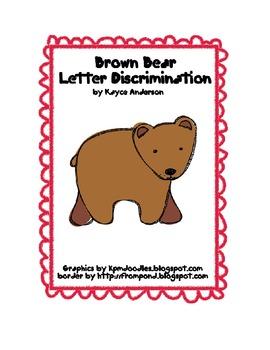 Brown Bear Letter Discrimination