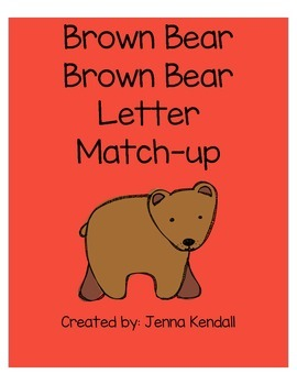 Brown Bear Letter Match-Up