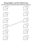 Brown Bear Letter Match-Up