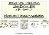 Brown Bear Letter and Number Activities