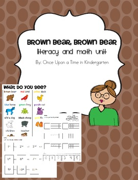 Brown Bear Literacy and Math Pack