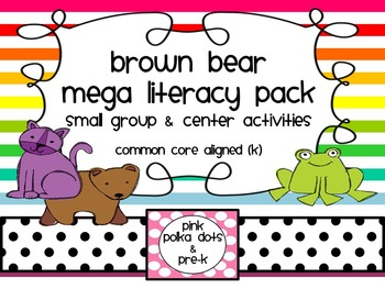 Brown Bear Literacy Small Group & Centers ~ ABC, Beginning Sounds