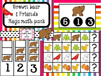 Brown Bear MEGA Math Pack ~ Number Recognition, Counting,