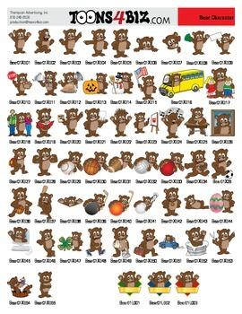 Brown Bear Clipart Set