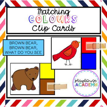 Brown Bear Matching Colours Clip Cards