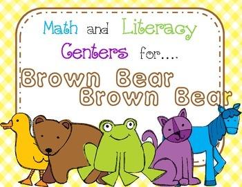 Brown Bear Math/Literacy Centers