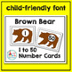 Brown Bear, Brown Bear Math Pack - 4 Math Centers for Early Learners