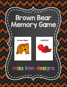 Brown Bear Memory Game