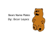 Brown Bear Name Plates
