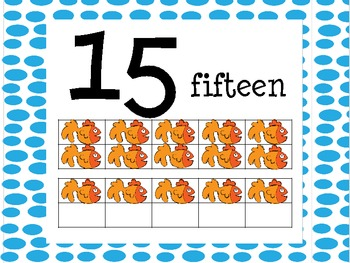 Brown Bear Number Poster in Ten Frame/Bulletin Board