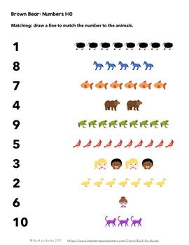 Brown Bear: Numbers 1-10