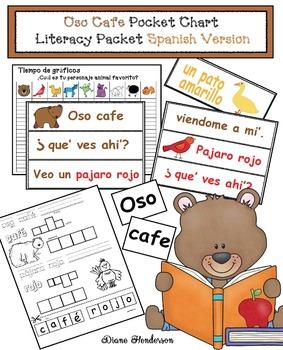 Brown Bear Pocket Chart Card Literacy Packet: Spanish  Version