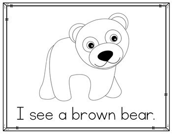 Brown Bear Pocket Chart Retelling Activity and Mini Reader