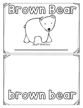 Brown Bear Posters and Emergent Reader Booklets! English and Spanish