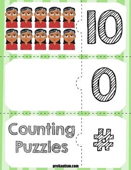 Brown Bear Quantity Puzzles | Numbers 0-10