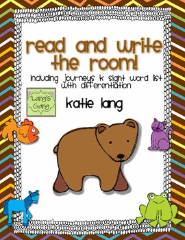 Brown Bear Read and Write the Room-Kindergarten List
