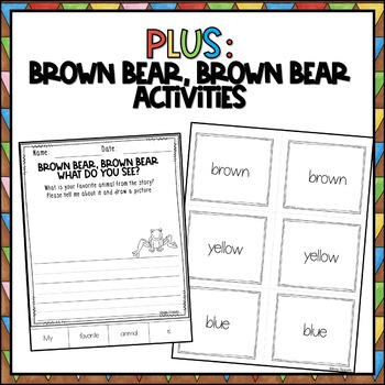 FLASH FREEBIE Brown Bear Reading and Writing Pack