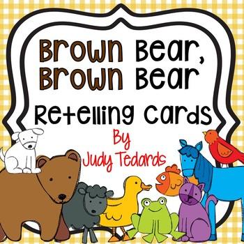 Brown Bear Retelling Cards(FREEBIE Pocket Chart Activity)
