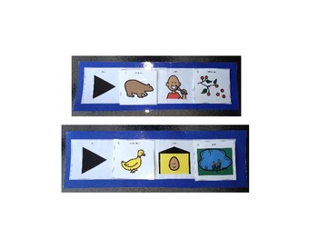 Brown Bear Sentence Strips: Speech Therapy