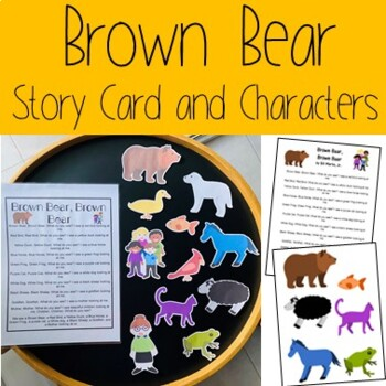 Brown Bear Story Card and Characters