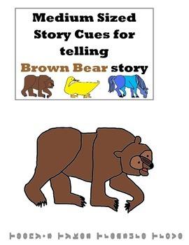 Brown Bear Story Cues Medium Sized