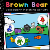 Brown Bear Vocabulary Folder Game for Students with Autism & Special Needs