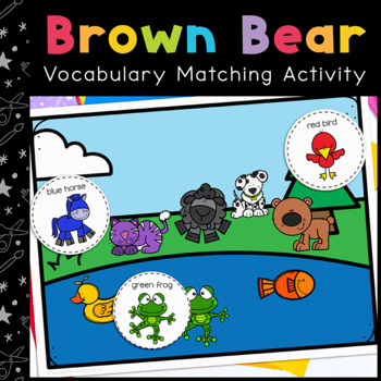Brown Bear Vocabulary Folder Game for students with Autism