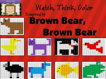 Brown Bear Watch, Think, Color Bundle Mystery Pictures