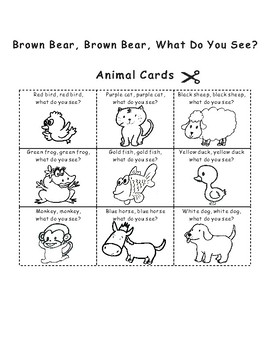 Eric Carle Sequencing Text Activity: Brown Bear, What Do You See?