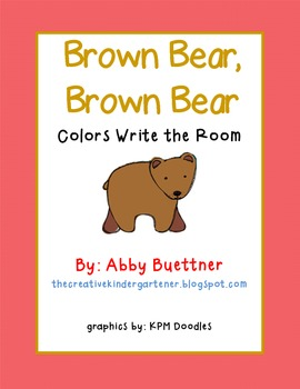Brown Bear Write the Room