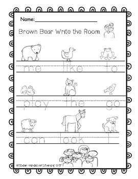 Brown Bear Write the Room-Gumball Sight Words