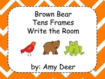 Brown Bear Write the Room Tens Frames