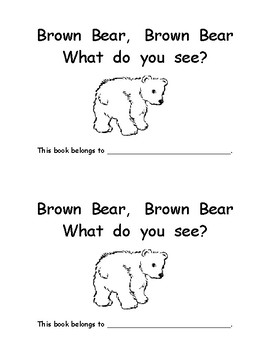 Brown Bear emergent color word reader