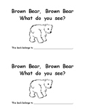 Brown Bear emergent color word reader