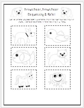 Brown Bear emergent reader & Sequencing/ Retelling Activity (Simplified Version)