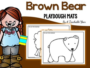 Brown Bear Playdough Mats