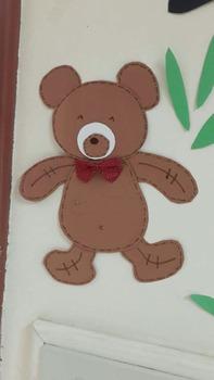 Brown Bear printable hand craft lovely bear