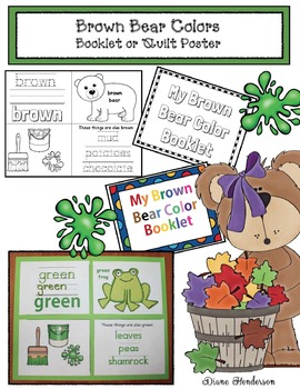 Brown Bear's Colors: A Booklet or Poster Quilt
