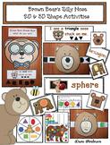 Brown Bear's Silly Nose: 2D & 3D Shape Activities
