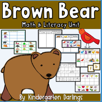 Brown Bear sorting and center activities