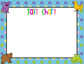 Brown Bear tally chart and Supply Labels