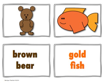 """Brown Bear (working with the word """"see"""" and color words)"""