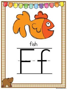 Brown Bear's Alphabet Poster Set