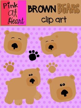 Brown Bears Clip Art